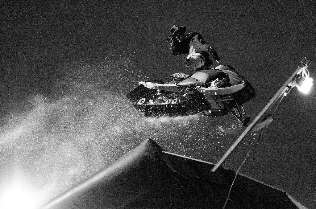 Flying Snowbike